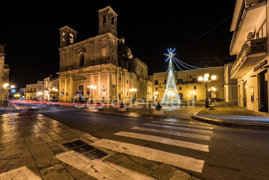 piazza Castello Con Albero Di Natale