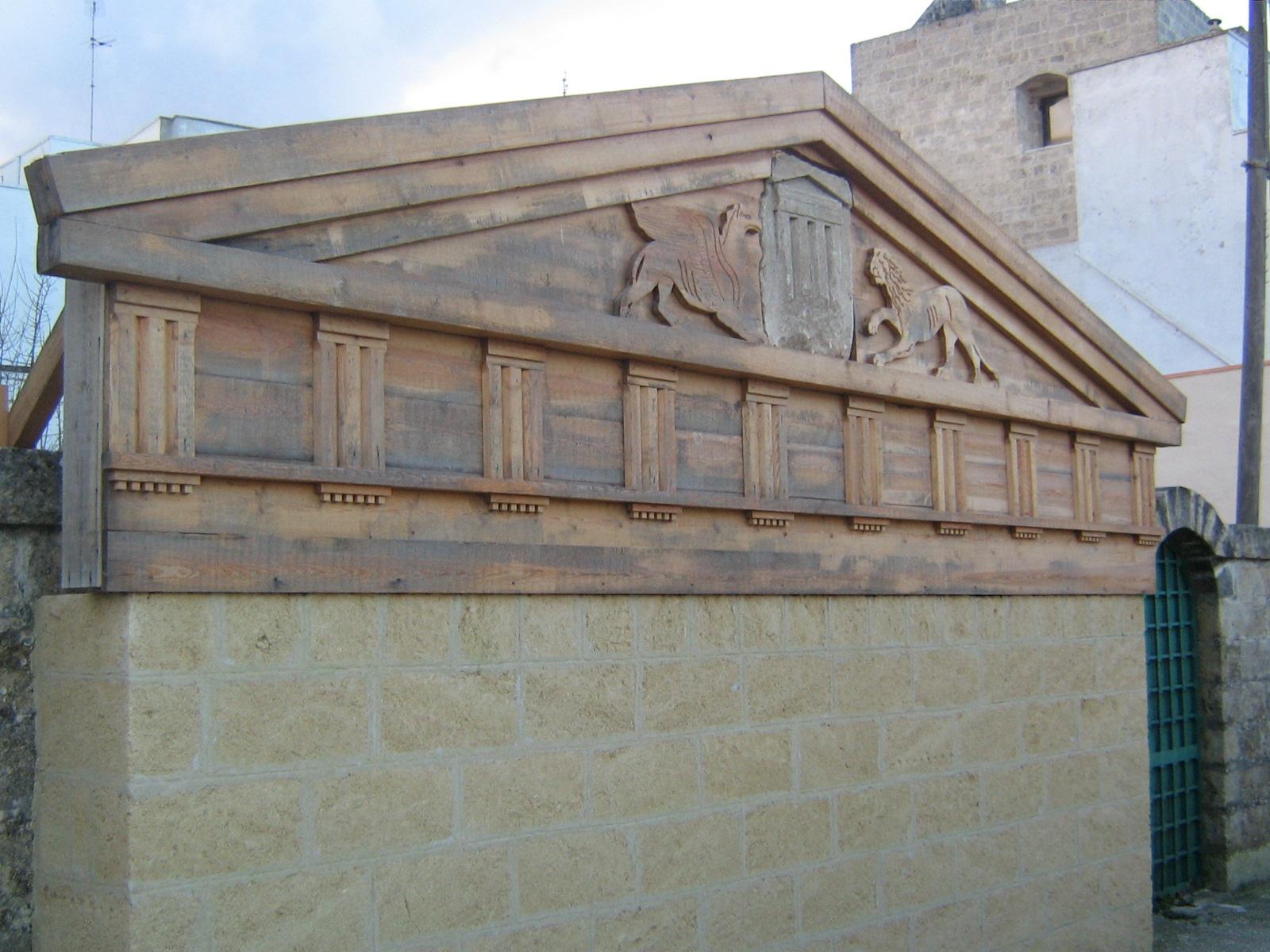 Cosa vedere a Castro: tempio di Minerva, ricostruzione